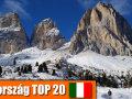 Melyik a 20 legnépszerűbb olasz síterep?