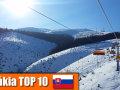 10 legnépszerűbb szlovák síterep - nézettség alapján