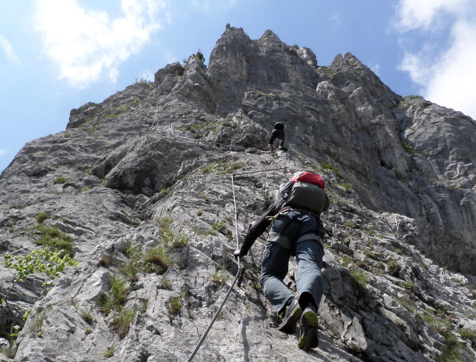 Franz Josef Klettersteig : B c d nehézségű szakaszok a kaiser franz joseph klettersteig