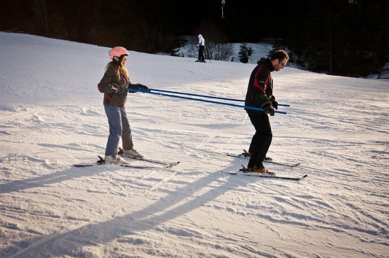 Alpesi síelés gyenge látás