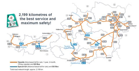 ausztria autópálya térkép Autópálya matrica árak, útdíjak Ausztriában 2018 ausztria autópálya térkép