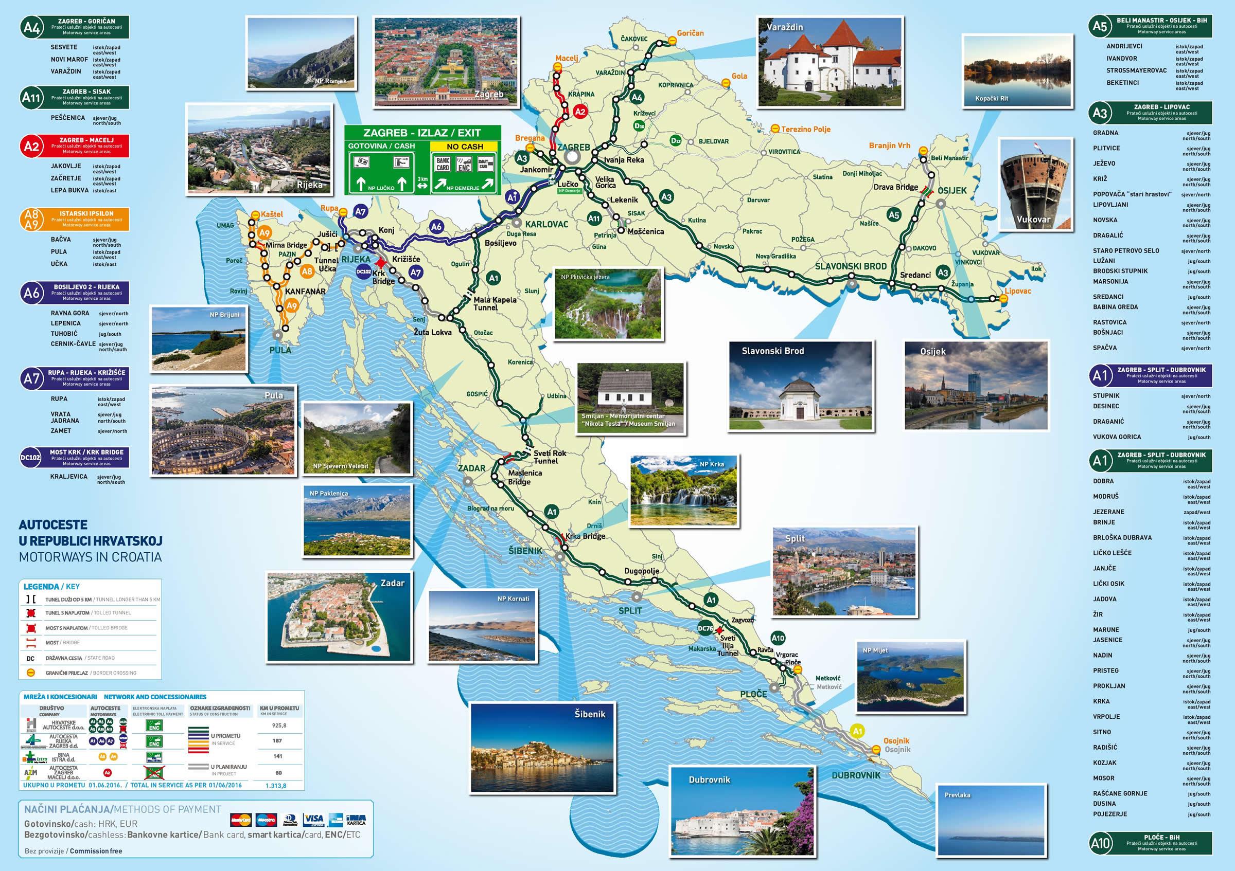 budapest autópálya térkép Horvátország autópálya térképe 2018   új autópálya szakaszok  budapest autópálya térkép