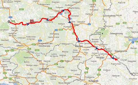 kerékpáros térkép ausztria Mura kerékpárút egészen Horvátországig kerékpáros térkép ausztria