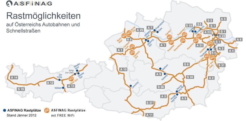 ausztria autópálya térkép Ingyenes wifi interaz osztrák autópályákon ausztria autópálya térkép