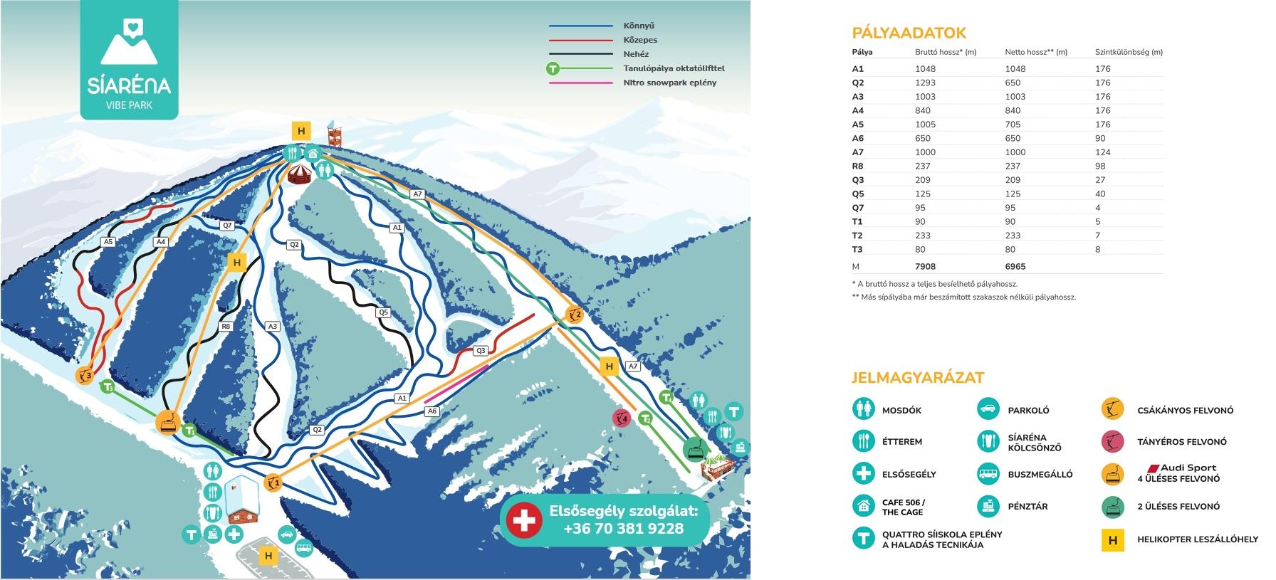 eplény térkép Eplény Síaréna   sípálya a Bakonyban   pályainfók, sítérkép eplény térkép