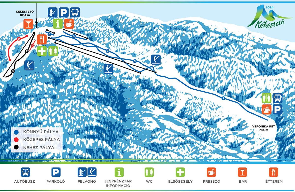 kékestető térkép Kékestető   Mátraháza   Veronika rét sípálya, Mátra Centrum kékestető térkép