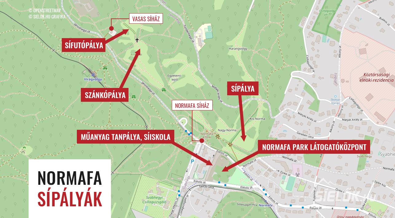 budapest normafa térkép Normafa, Budapest   sípálya, webkamera, síiskola, sífutó iskola a  budapest normafa térkép