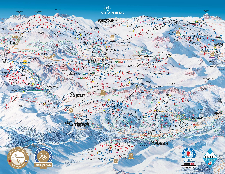 Ski Arlberg St Anton St Christoph Stuben Lech Zurs Warth