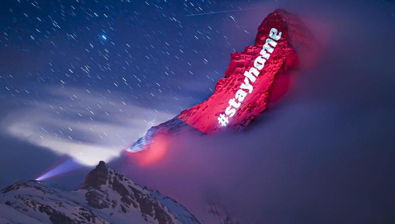 Zermatt vírus idején: látványos üzenetek az ikonikus csúcson